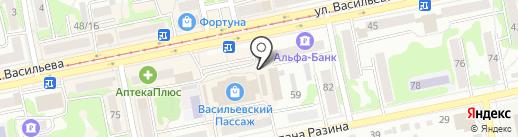 Магазин восточных сладостей и домашнего текстиля на карте Бийска