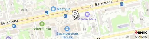 Магазин колбасных изделий и мясных деликатесов на карте Бийска
