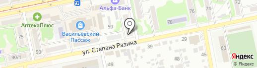 Северянка на карте Бийска