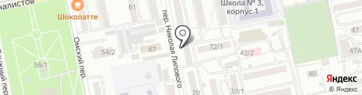 Форне на карте Бийска