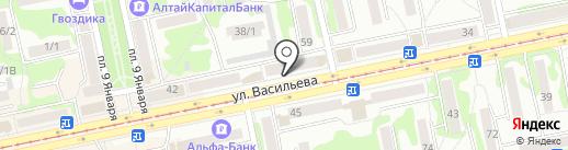Центр Ванн на карте Бийска