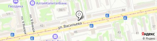 Автоателье на карте Бийска