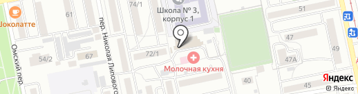 А4 на карте Бийска