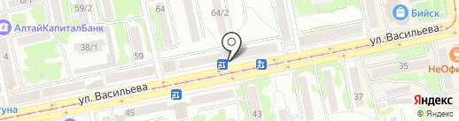 Магазин пряжи на карте Бийска