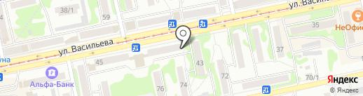Аквасфера на карте Бийска