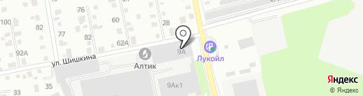 Бийскэнергопроект на карте Бийска