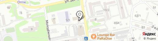 Почтовое отделение №2 на карте Бийска