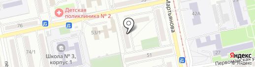 Кедр Сувенир на карте Бийска