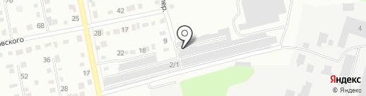 Автолюбитель на карте Бийска