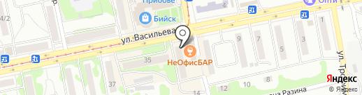 Трёшка на карте Бийска