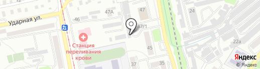 Янтарный на карте Бийска
