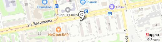 Avenue на карте Бийска