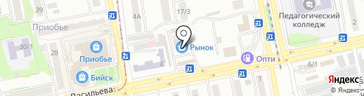 Магазин молочных продуктов на карте Бийска