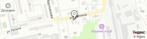 Управление по делам ГО, ЧС и пожарной безопасности на карте Бийска