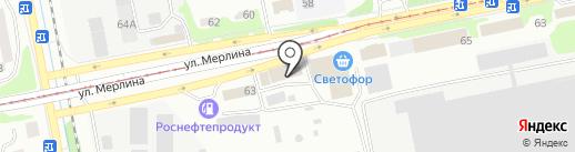 НОВА на карте Бийска