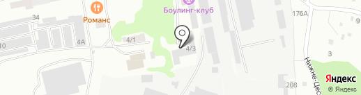 Олимпиец на карте Бийска