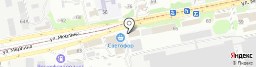 Пожарная часть №19 на карте Бийска