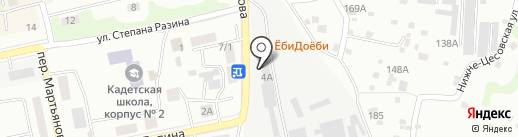 Речной Омулёк на карте Бийска