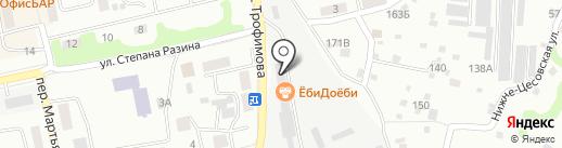 Шашлычный двор №1 на карте Бийска