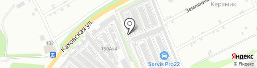 Гаражно-строительный кооператив №21 на карте Бийска