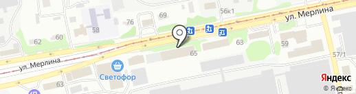 Компьютерная помощь на карте Бийска