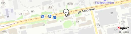 Сакура на карте Бийска