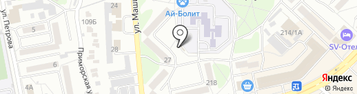 Киоск по ремонту обуви на карте Бийска