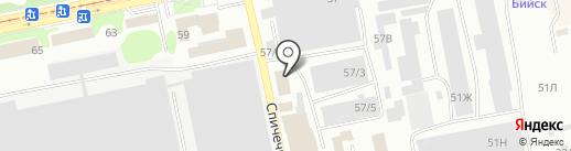 Стержень на карте Бийска