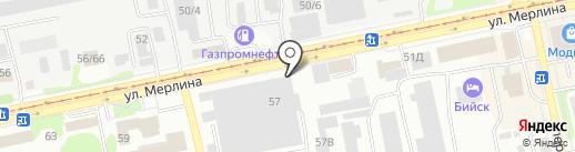 Компания по продаже пиломатериалов на карте Бийска