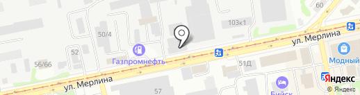 Мик на карте Бийска