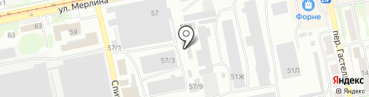 Алтай-Граф на карте Бийска