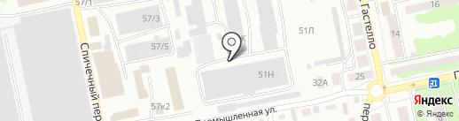 Траст на карте Бийска