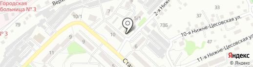 Янтарь на карте Бийска