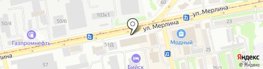 Тенториум на карте Бийска
