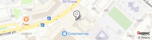 Автошкола Первая на карте Бийска