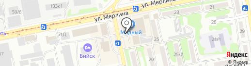 Рубин на карте Бийска