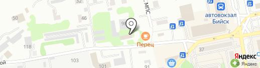 Грация на карте Бийска