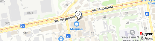 Тройка на карте Бийска