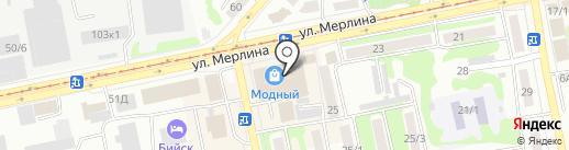 Жизель на карте Бийска