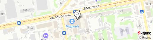 Магазин мужской одежды на карте Бийска