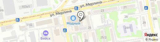 Антей на карте Бийска