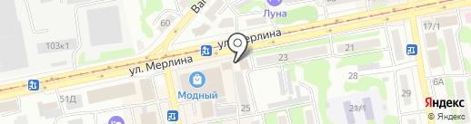 Управление по работе с населением Администрации г. Бийска на карте Бийска
