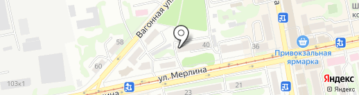 Бийское городское казачье общество на карте Бийска