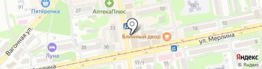 Магазин табачной продукции на карте Бийска