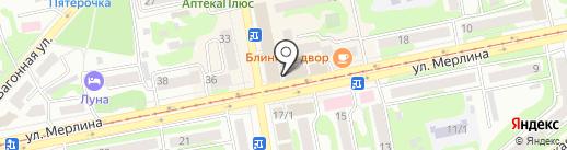 Магазин мужской трикотажной одежды на карте Бийска