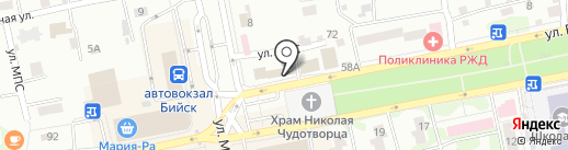 Магазин готовых салатов по-корейски на карте Бийска