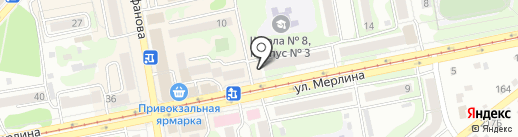 Сеть кондитерских магазинов на карте Бийска