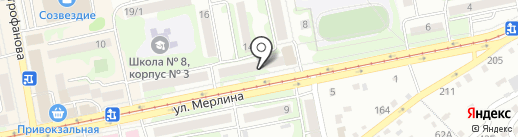 Автополис на карте Бийска