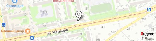 Сибирские сети на карте Бийска