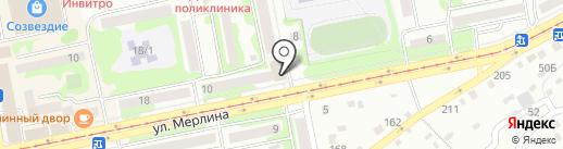 Пилот на карте Бийска